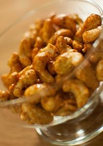 Krydrede cashewnøtter