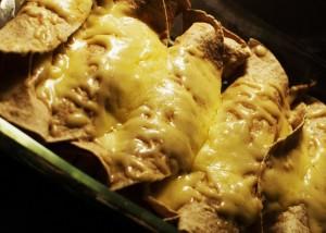 Enchiladas med kylling, ost og paprika