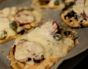 pizza, blomkålbunn