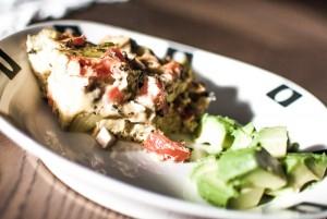 omelett i ovn med grønnsaker